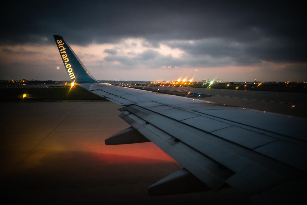 Departing...