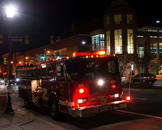 At 2:23 AM some prankster in the Downtown Richmond Hilton set off the fire alarm sending every person in the hotel outside into the cold.