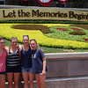 Outside the Magic Kingdom.  We have the same photo of the same four girls outside Disneyland 5 1/2 years ago.  :)
