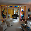 The living room in Elvis' Graceland.  The place was more tasteful and normal than I expected.