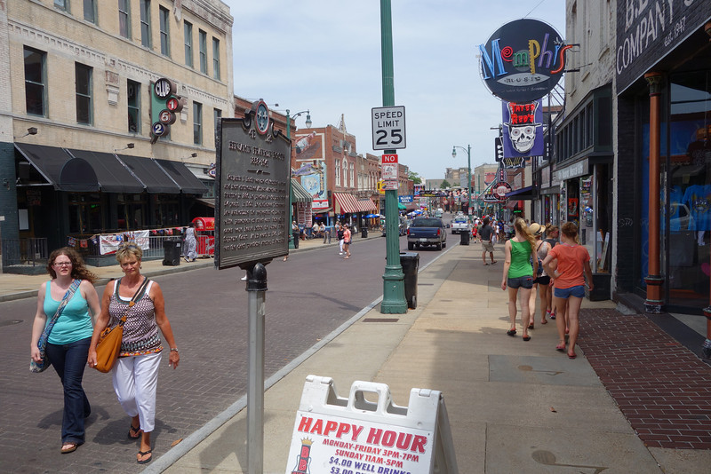 The Memphis tourist drag.