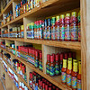 The hot sauce store was incredible.  This is one of four walls and a center section lined with hot sauces.