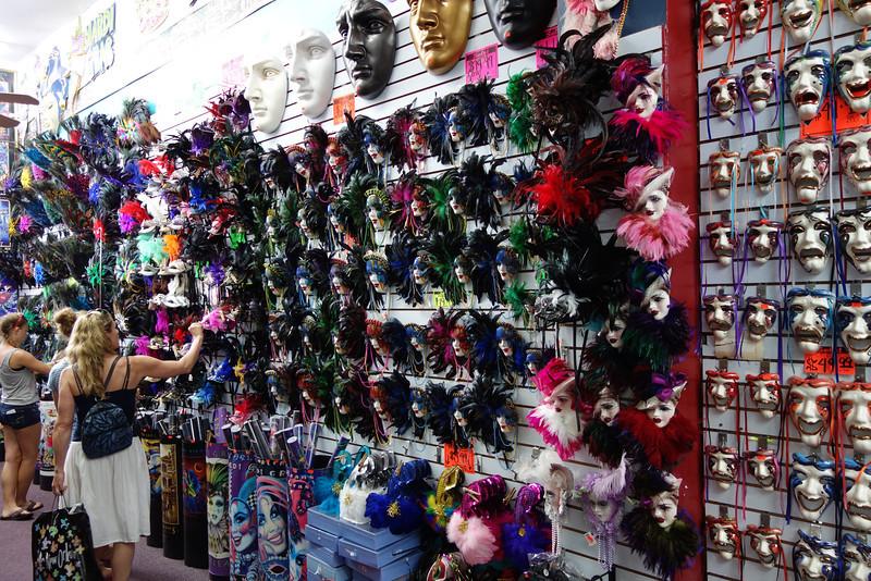 Enjoying a mask store (three rooms of masks)