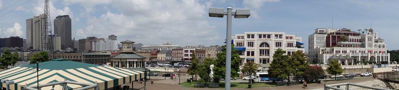 Here is a panorama of the New Orleans waterfront.