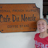 Jessie finally made it to Cafe Du Monde, which she had planned months in advance.  Unbelievable a coffee shop that serves two things (lattes and beignets) could be this popular.  It is open 24 hours a day and when we first got there around 10:30 AM, had a line around the corner.