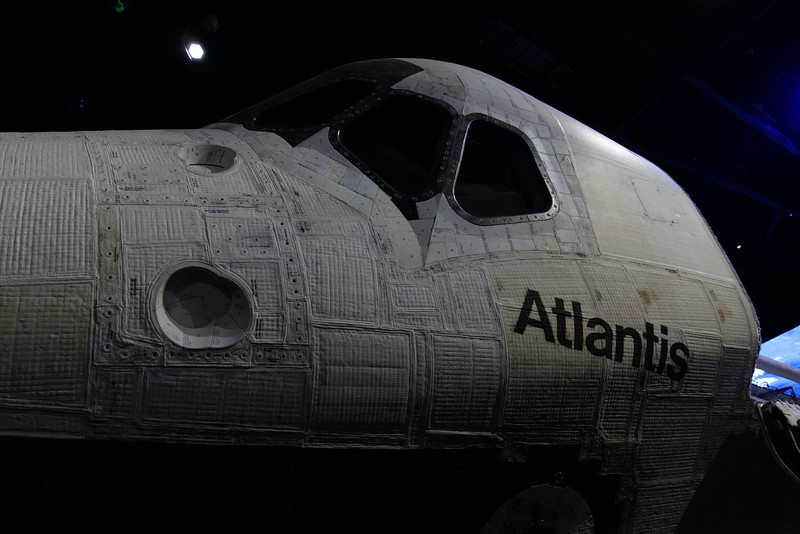 The space shuttle Atlantis had just been put on display.  It was very impressive.