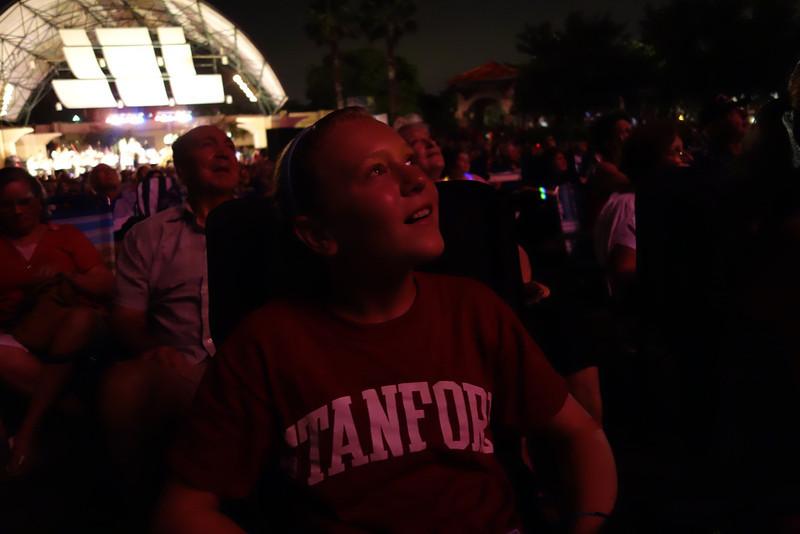 Jessie enjoying the fireworks