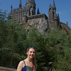 Kelli, very happy to be standing in front of Hogwarts