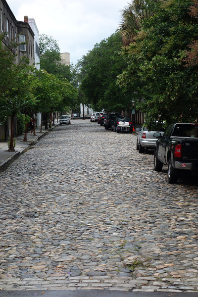 These old cobblestones were brought over on ships from England as ballast for the ships.