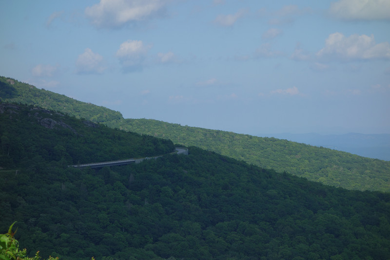 Our first glimpse of the Blue Ridge Parkway