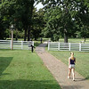 Kelli walking on Andrew Jackson's plantation.