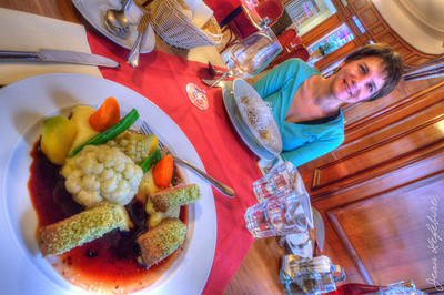 Hungarian Traditional meal. Budapest Hungary.