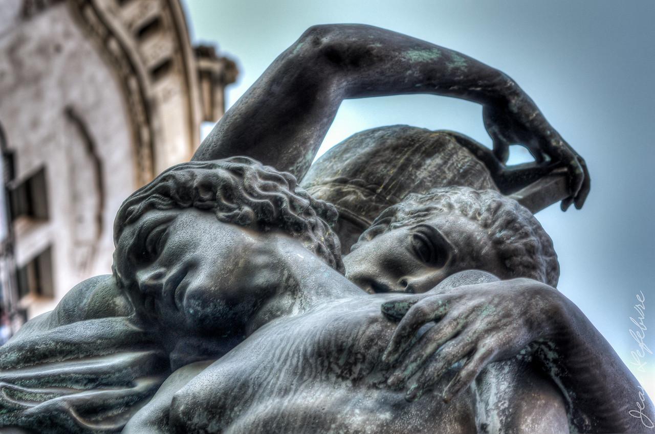 Budapest Street Statue