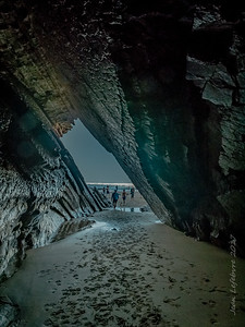 from inside the flysch cave