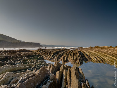 Flysch at the Beach in Spain