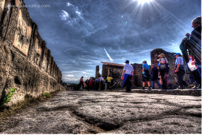 2000 year old stone paved roads of Pompeii .. The roads are in better shape than the 3 year old streets of Waterloo!