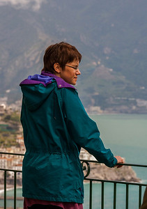 The fog lifted and Cathy caught her first glimpse of Amalfi!