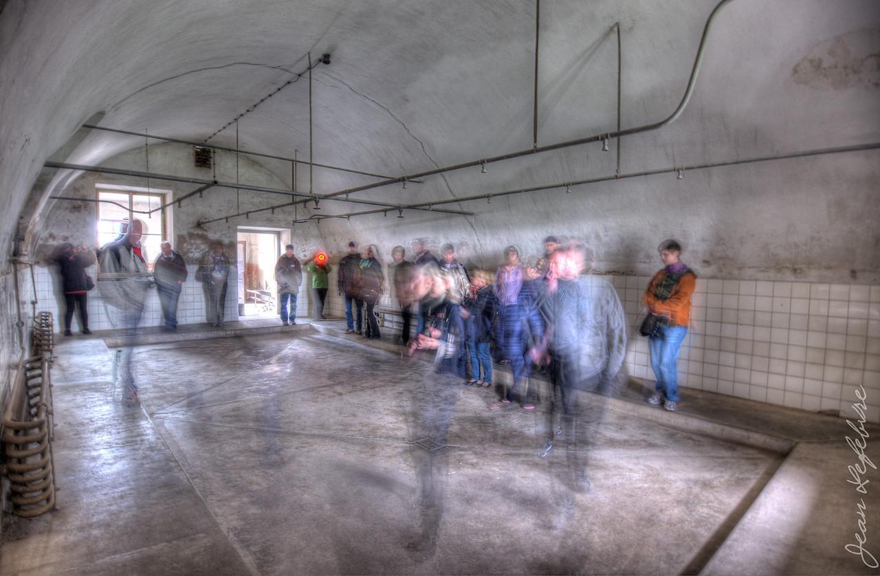 Nazi Concentration Camp Shower Room