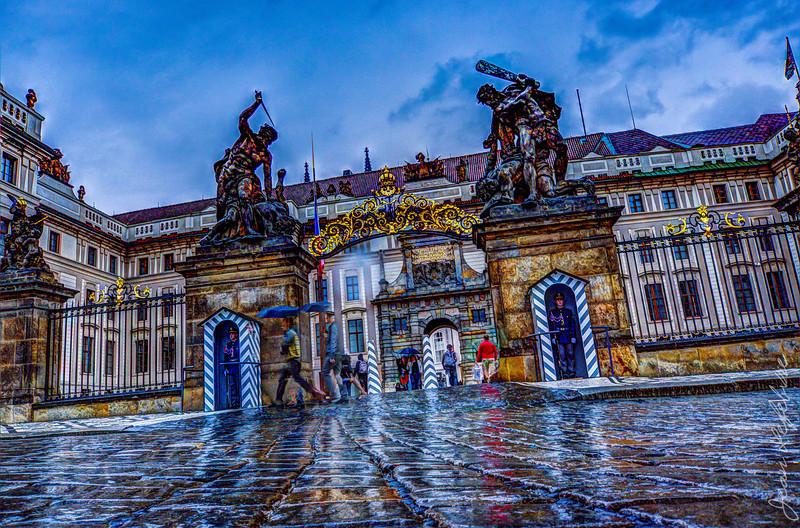 Castle Gates in the Rain