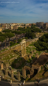 Roman Forum from the Emanuel Vitoros Monument