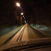 Driving through the Whittier tunnel