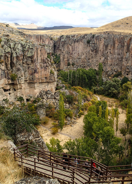 Cappadocia - Ihlara Valley, 300+ steps down into the valley