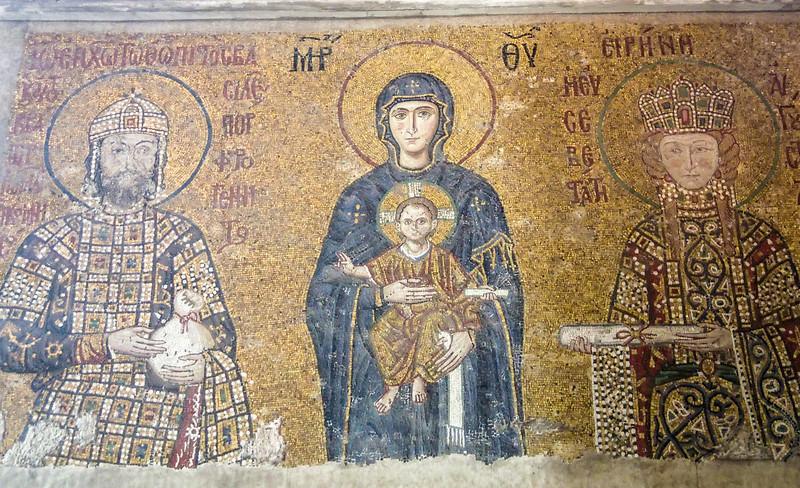 Hagia Sofia - Emperor Johannes Komnenos II and Empress Irene - 12th century