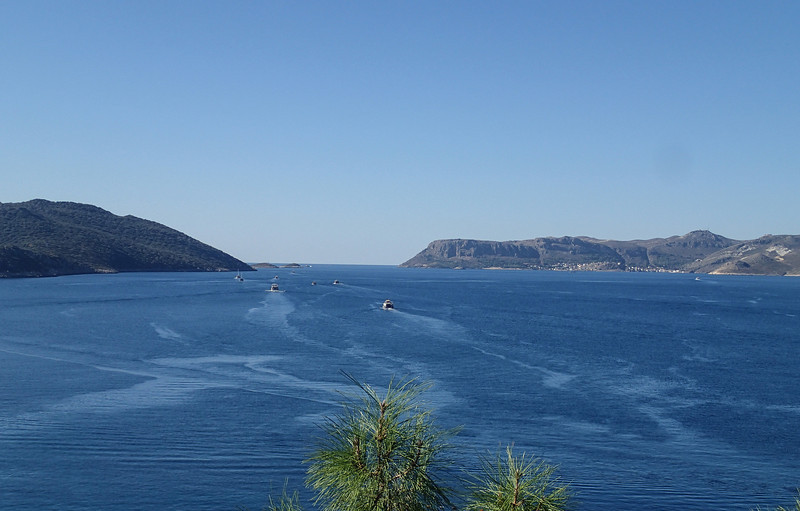 View from our room at Gardenia Hotel in Kas