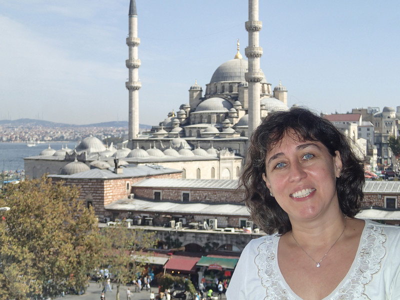At Hamdi, with Yeni Camii in the background