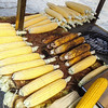 Corn on the cob - you can have it boiled (no butter,just salt) or roasted
