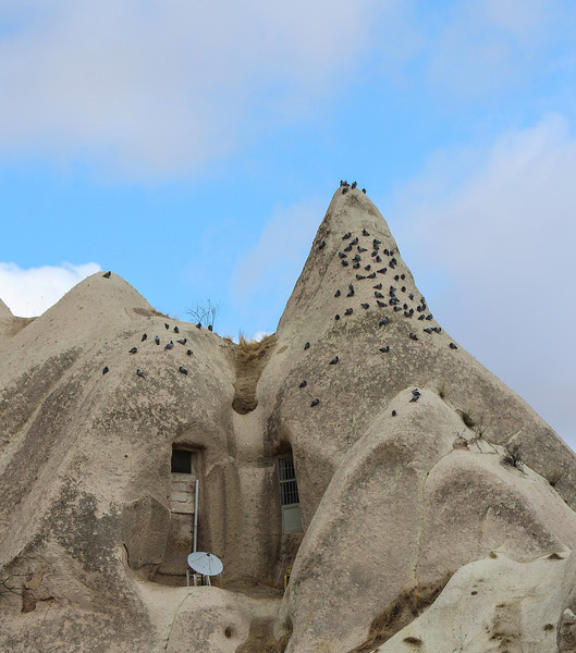 Cappadocia - Pigeon Valley - Looks like some cave people had satellite dishes, too :)