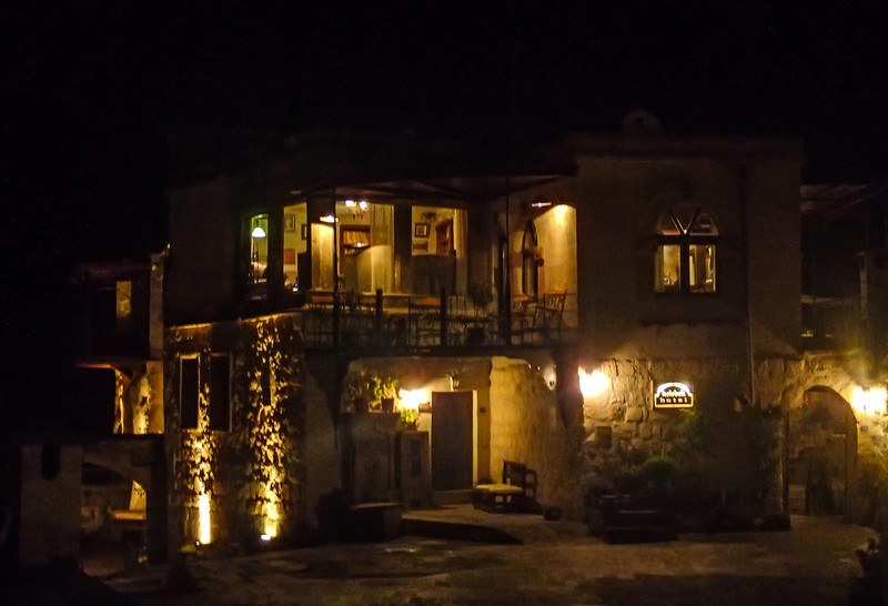 Kelebek hotel at night