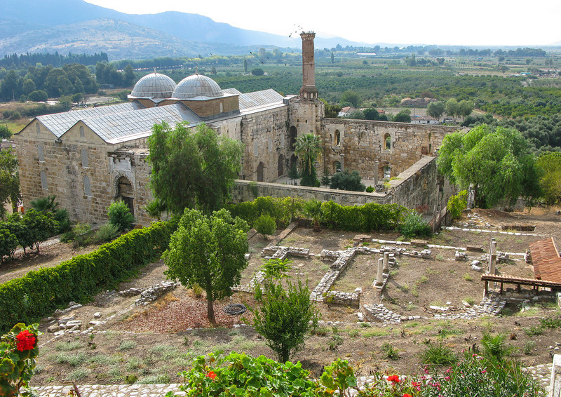 İsa Bey Mosque in Selcuk - view from the Basilica of St. John
