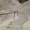 Cappadocia - - stairs down to breakfast in the Hidden Kings Valley