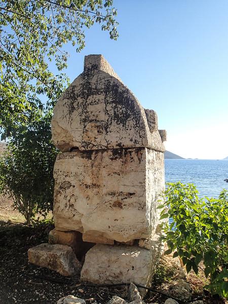 Kas, a lycian tomb