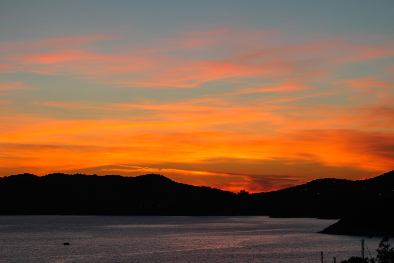 Sunset in Kas, view from our room terrace