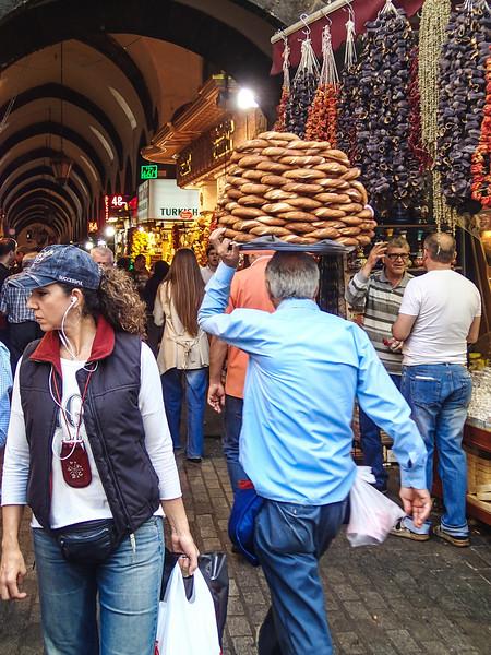Outside the spice bazaar