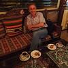After dinner, enjoying dessert, coffee and tea. They say apple tea is for tourists, real Turkish people drink black tea...I loved apple tea