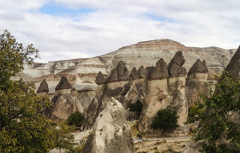 Cappadocia - Pasabag Valley - You can see tiny people at the fairy chimneys' base