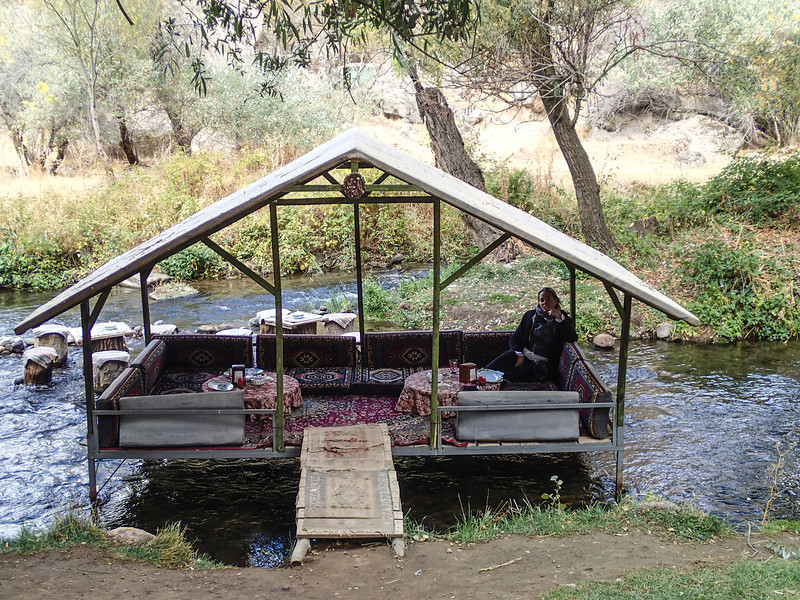 Cappadocia - Ihlara Valley<br /> Little restaurant by the water...too cold to eat there