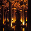 Basilica Cistern: 70m wide and 140m long<br /> 336 marble columns arrange in 12 rows