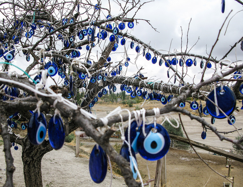 Cappadocia, tree with evil eye charms