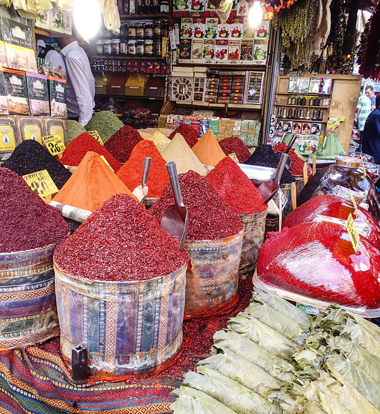 Outside the spice bazaar