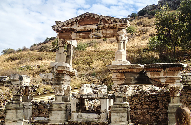Ephesus - The Fountain of Emperor Trajan on Curetes Street constructed between 102 - 114 A.D.