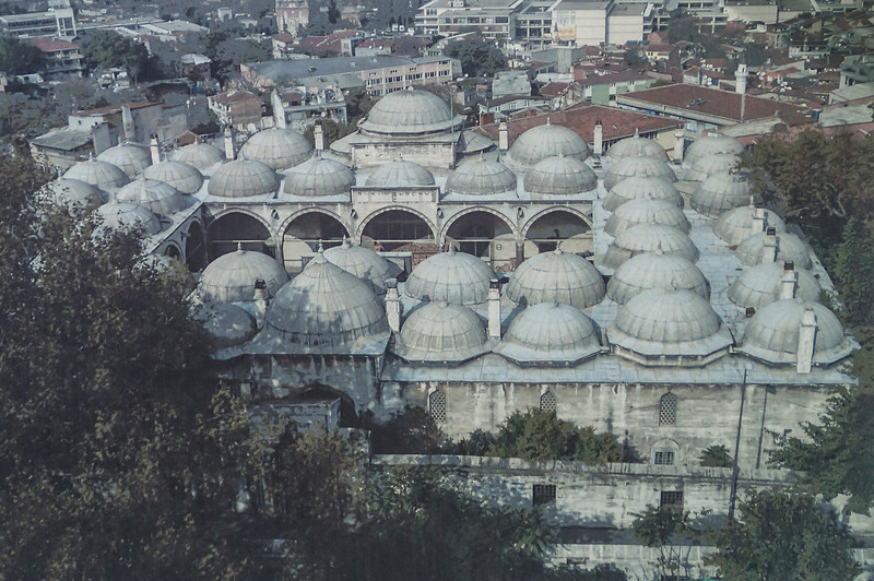 Süleymaniye Mosque, the largest mosque in Istanbul (picture of a picture)<br /> The construction work began in 1550 and the mosque was finished in 1558.