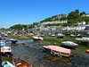 The village of Looe at low tide.