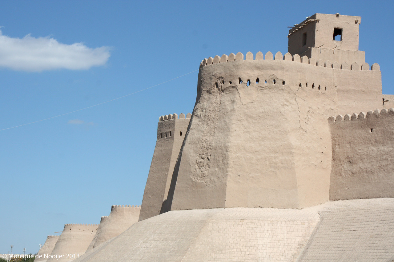 City wall in Khiva.