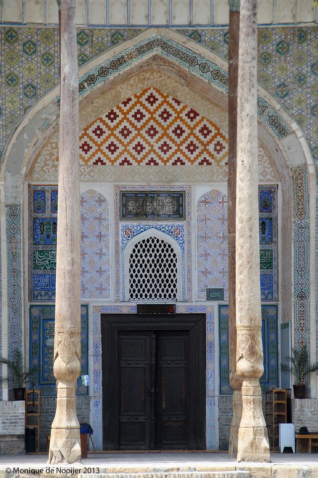 Bolo Hauz Mosque in Bukhara.