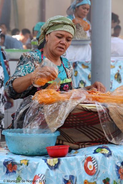 Chorsu Bazaar in Tashkent.