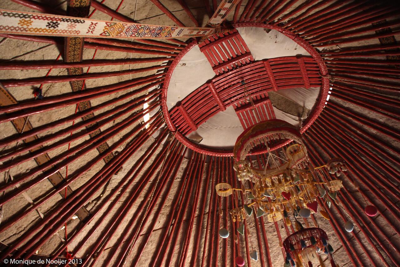 Yurt in the Kyzylkum desert.